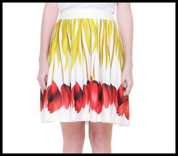Fiery Floral Skirt