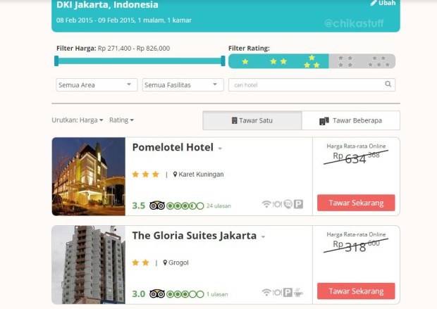 pilih hotel di travelio