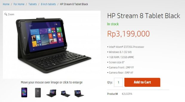 HP Stream 8 black