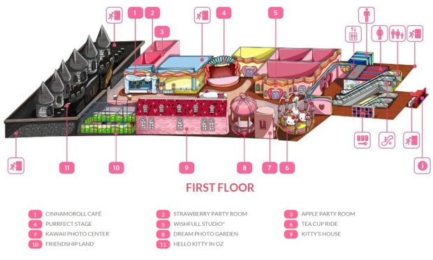 hellokitty town maps